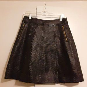 Banana Republic Black leather skirt